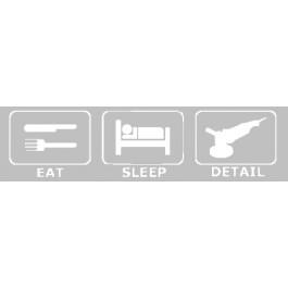 Eat Sleep Detail Sticker Wit
