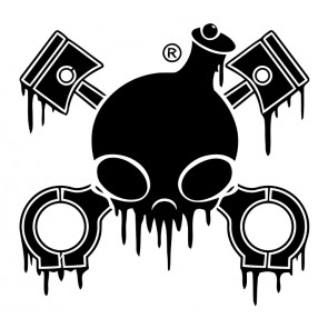 Chemical Guys Drip Skull Sticker Zwart