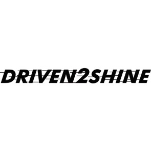 Driven2Shine Sticker Zwart