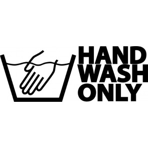 Hand Wash Only Sticker Zwart