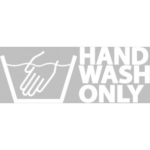 Hand Wash Only Sticker Wit