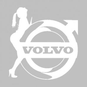 Sexy Volvo Sticker Wit