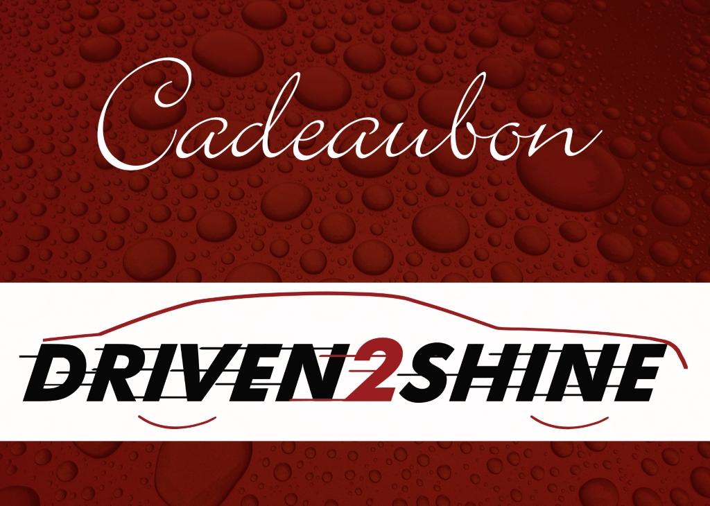 Driven2Shine Cadeaubon